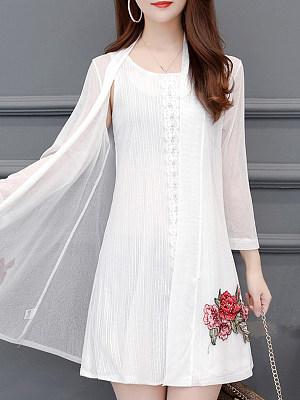 Embroidery Long Sleeve Cardigan фото