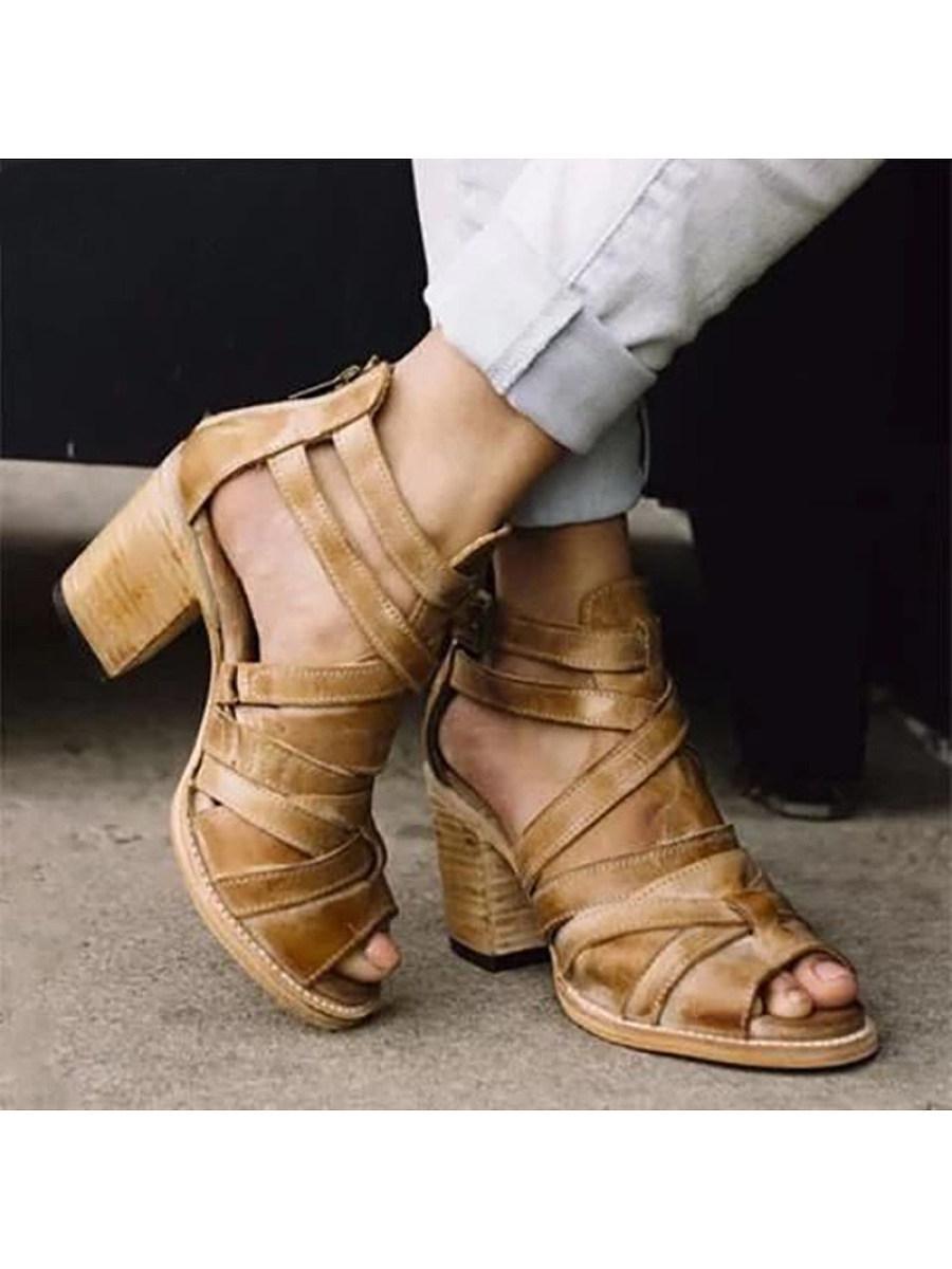 BerryLook Retro fishbill women's sandals