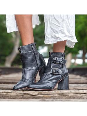 berrylook Women's Fashion Block Heel Booties