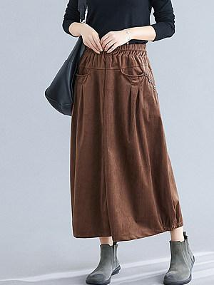 Fashionable retro cotton and linen multicolor skirt фото