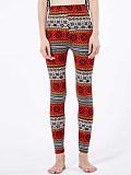 Image of Fashion plus size retro stretch print casual leggings