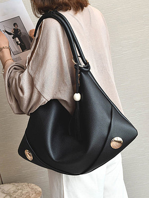 Fashionable wild fringed beaded shoulder bag фото