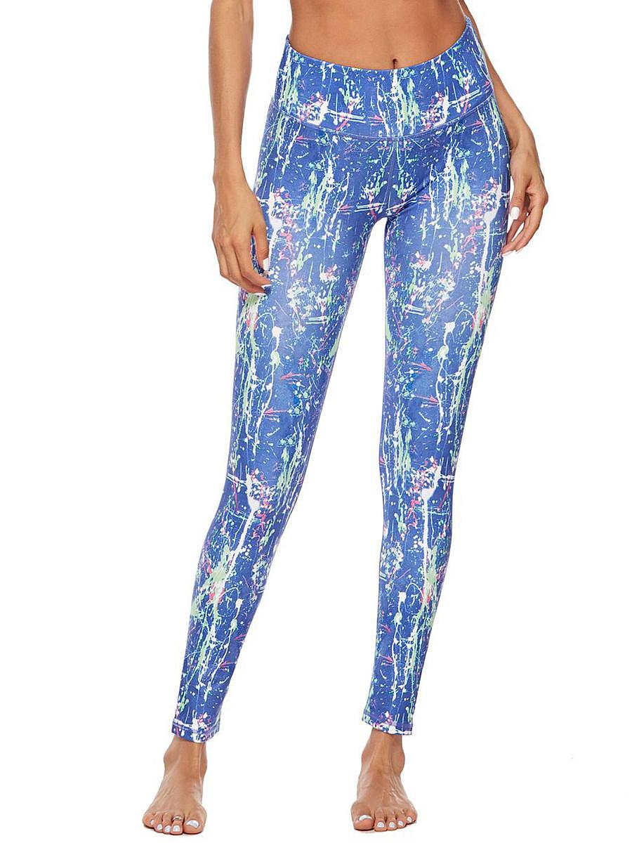 BerryLook Pattern digital printed high waist stretch track pants leggings