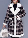 Image of Fleece Padded Imitation Lamb Coat