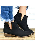 Image of British style thick heel fashion Martin boots