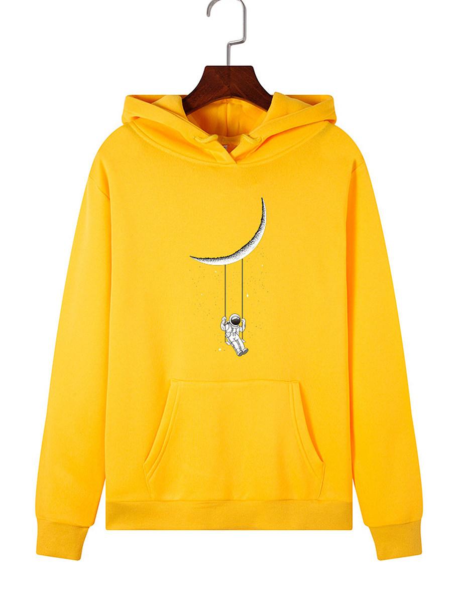 Fashion Printed Long Sleeve Hoodie