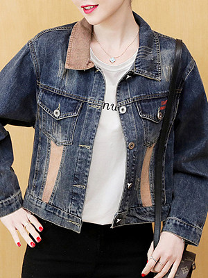 Loose-Fold Collar Jacket