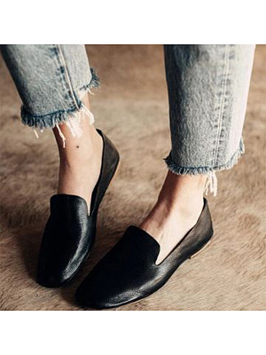 Solid Color Women Simple Comfortable Flats, 10655592