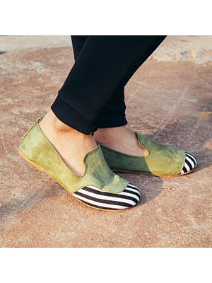 Casual Women Color Matching Comfortable Flats, 10709289
