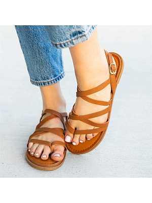 Cross buckle beach sandals, 23604306