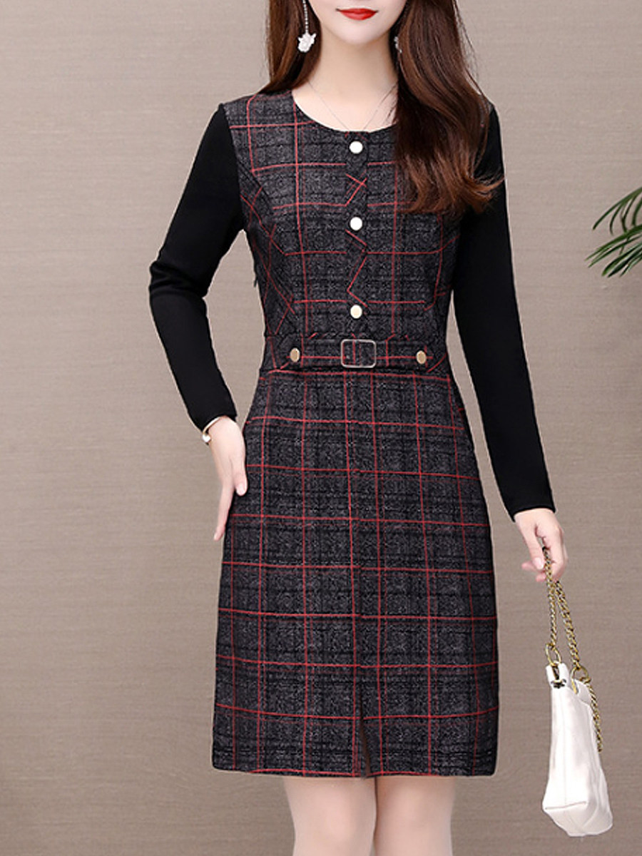Women's elegant plaid dress - from $19.95