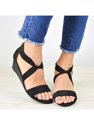 Women's stylish and comfortable wedge sandals, 23884755