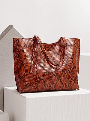 Fashion Snake Print Women's Single Shoulder Bag