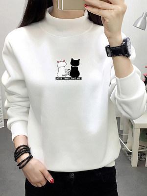 Fashion Loose Plus Velvet Thickening Sweatshirt фото