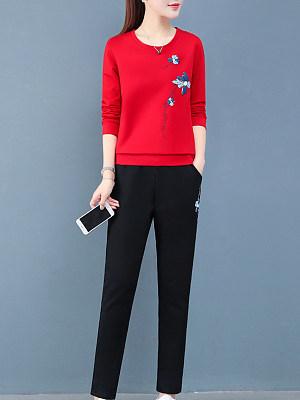 Fashion Print Sweater Two-Piece фото
