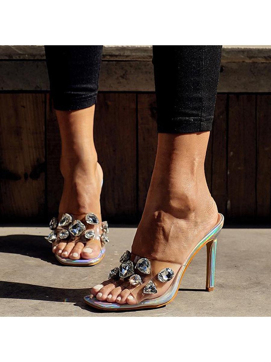 Brilliant gemstone sexy crystal with sandals