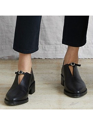 Fashion Pointed Toe Buckle Plain High Heels, 11090518
