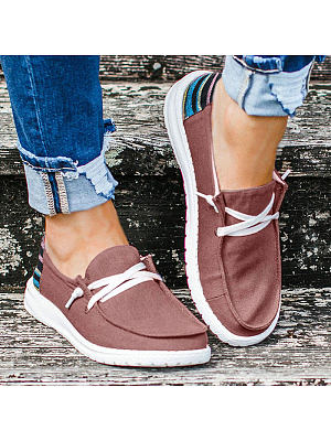 Fashion ladies casual flat canvas shoes, 25292374