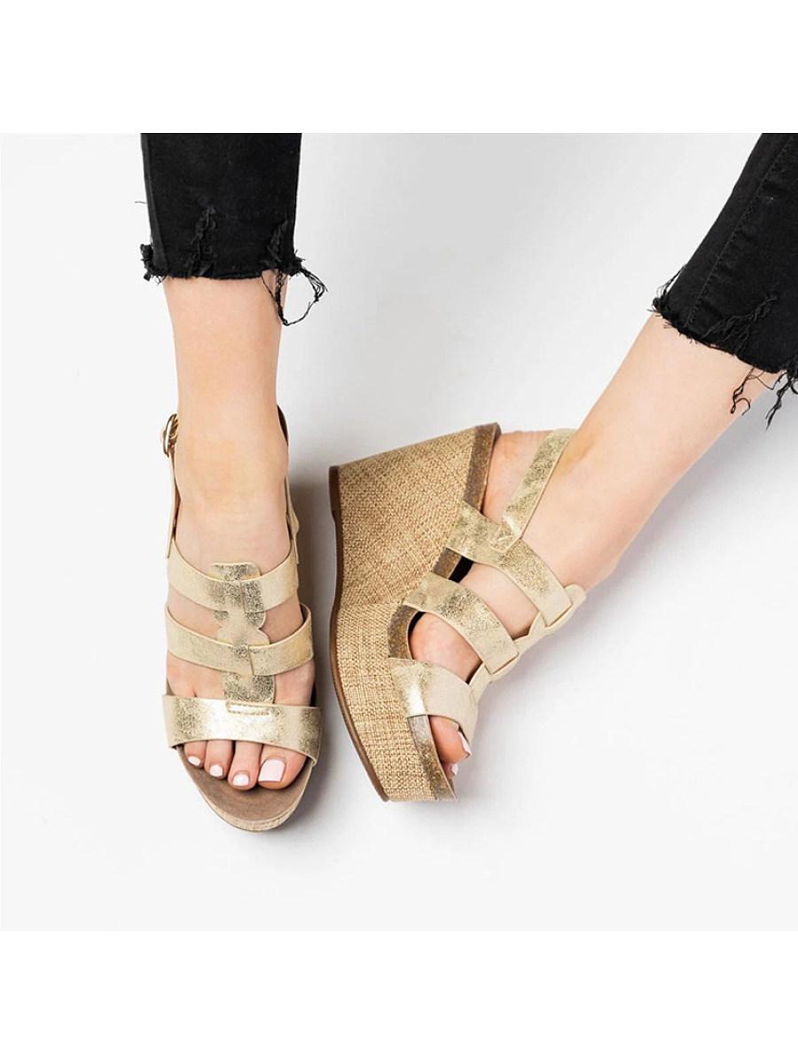Women's wedge platform platform open-toe sandals