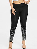 Image of Fashion gradient sequin print leggings
