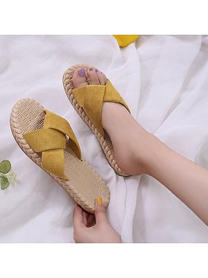 Wild simple cross women's sandals