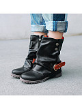 Image of Womens Shoes Winter Round Toe Short Boots