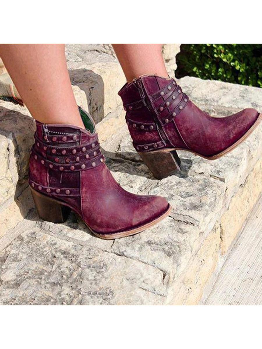 BerryLook Low-top studded women's boots