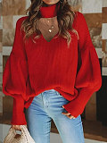 Image of V-neck Casual Sweater