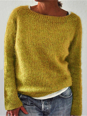 Berrylook coupon: Casual Solid Color Basic Sweater