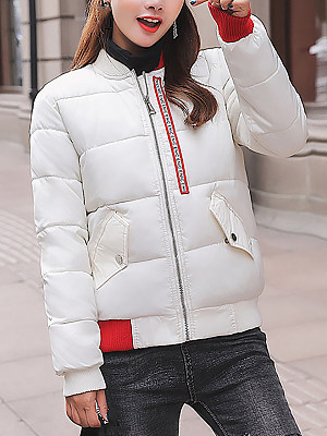 Women's Casual Zip Loose Down coat gender:female, season:autumn,winter, collar:crew neck, texture:polyester, sleeve_length:long sleeve, sleeve_type:regular sleeve, style:japan and south korea, dress_occasion:daily,leisure, bust:114,clothing length:65,shoulder width:43,