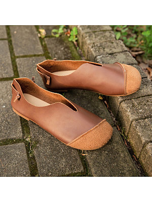 Vintage Soft-Flat Oxford Round Toe Flats, 10703623