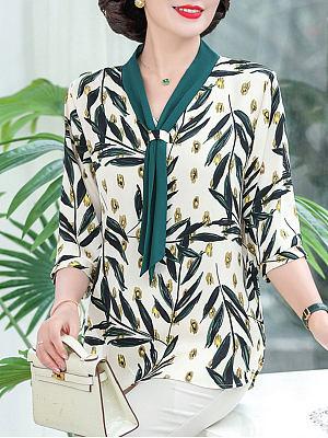 Fashionable loose temperament age-reducing shirt