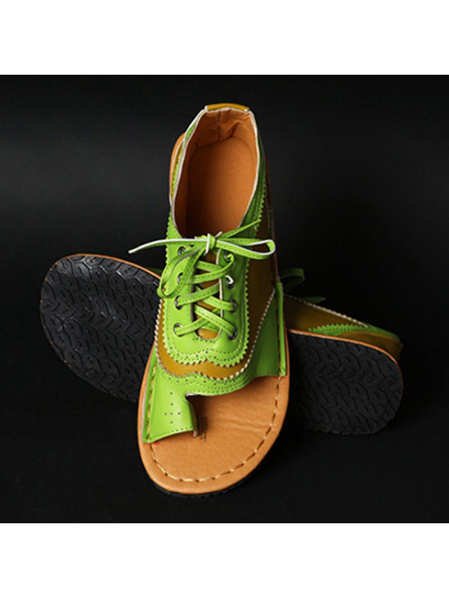Flat Comfort Colorblock Sandals