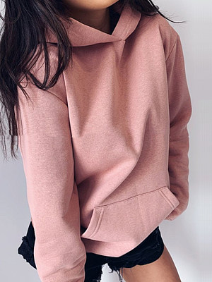 Women's Casual Loose Long Sleeve Solid Color Hoodie gender:female, colour:other, season:autumn,winter,spring, collar:crew neck, texture:polyester, sleeve_length:long sleeve, style:japanese and korean style, collar_type:hat collar, dress_occasion:daily, bust:94,clothing length:61,shoulder width:38,