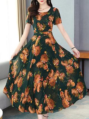 Berrylook Floral Holiday Dress shoppers stop, shop, long black dress, floral dresses
