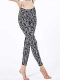 Image of Fashion printed high waist slim leggings