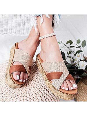 Platform Platform Heel Open Toe Slippers, 11266266