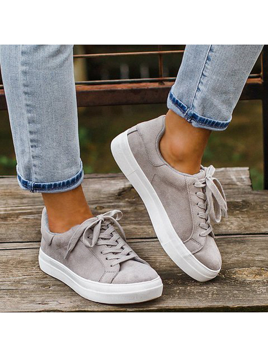 Women's fashion comfortable lace-up sneakers