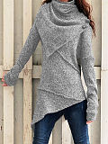 Image of Fashion long-sleeved knitted top