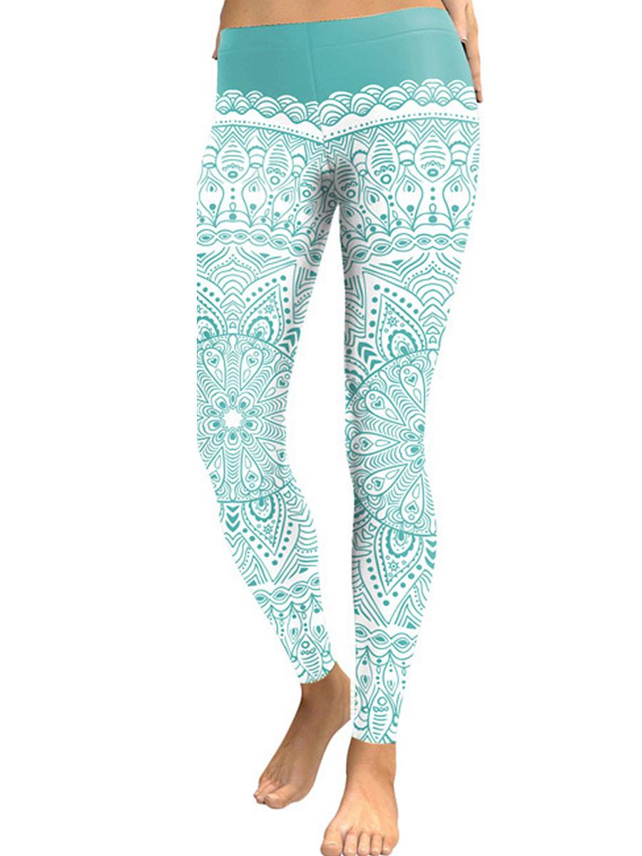 BerryLook Fashion lace printed yoga pants leggings