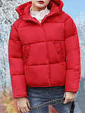 Image of Autumn and winter clothing new large-size slim-fitting padded bread coat