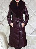 Image of Faux Fox Fur Coat, Fur Down Padded Jacket