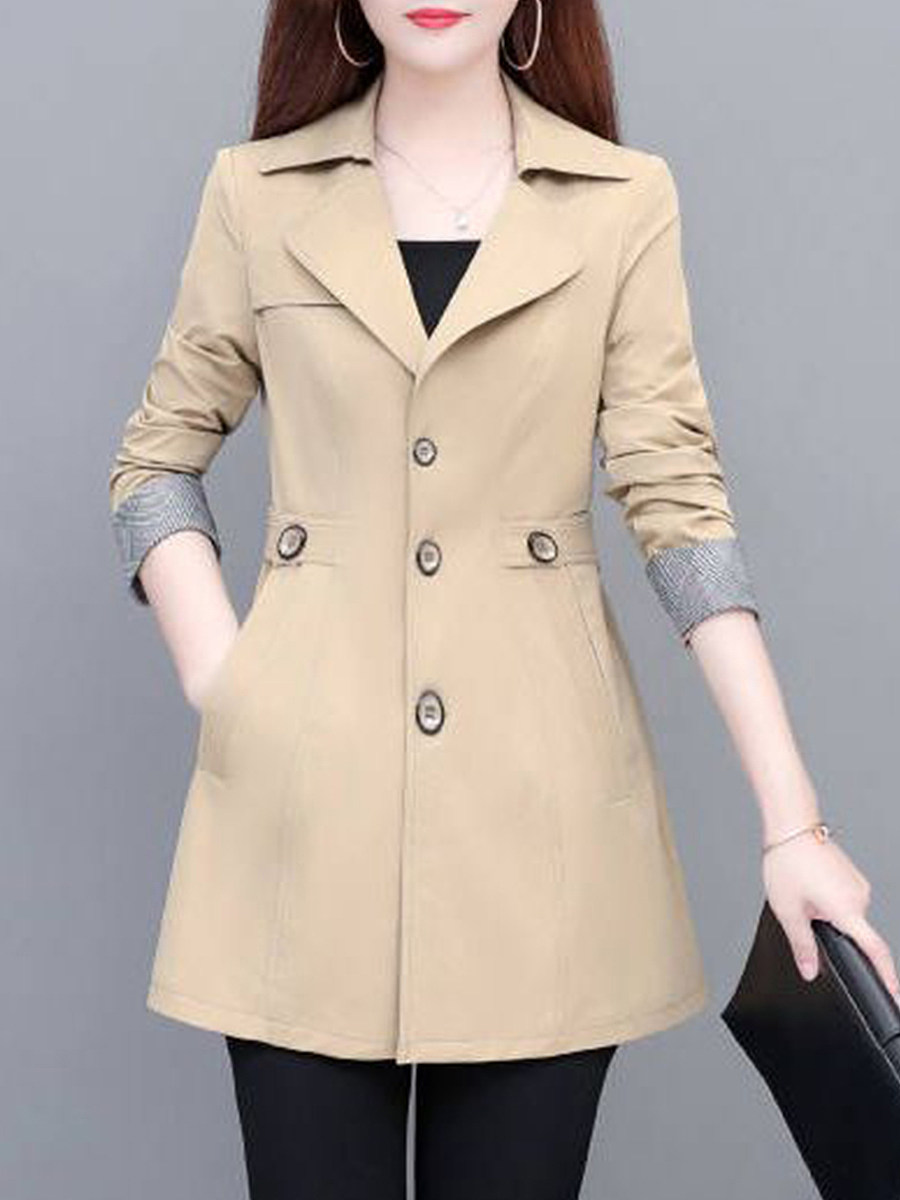 Women's fashion temperament Trench Coat - from $27.95