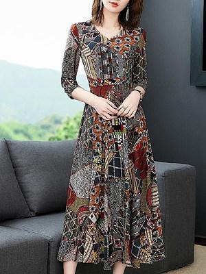 Berrylook Fashionable V-neck and big print chiffon dress shoping, fashion store, floral maxi dress, floral dresses