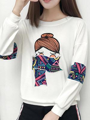 Printed loose sweatshirt фото