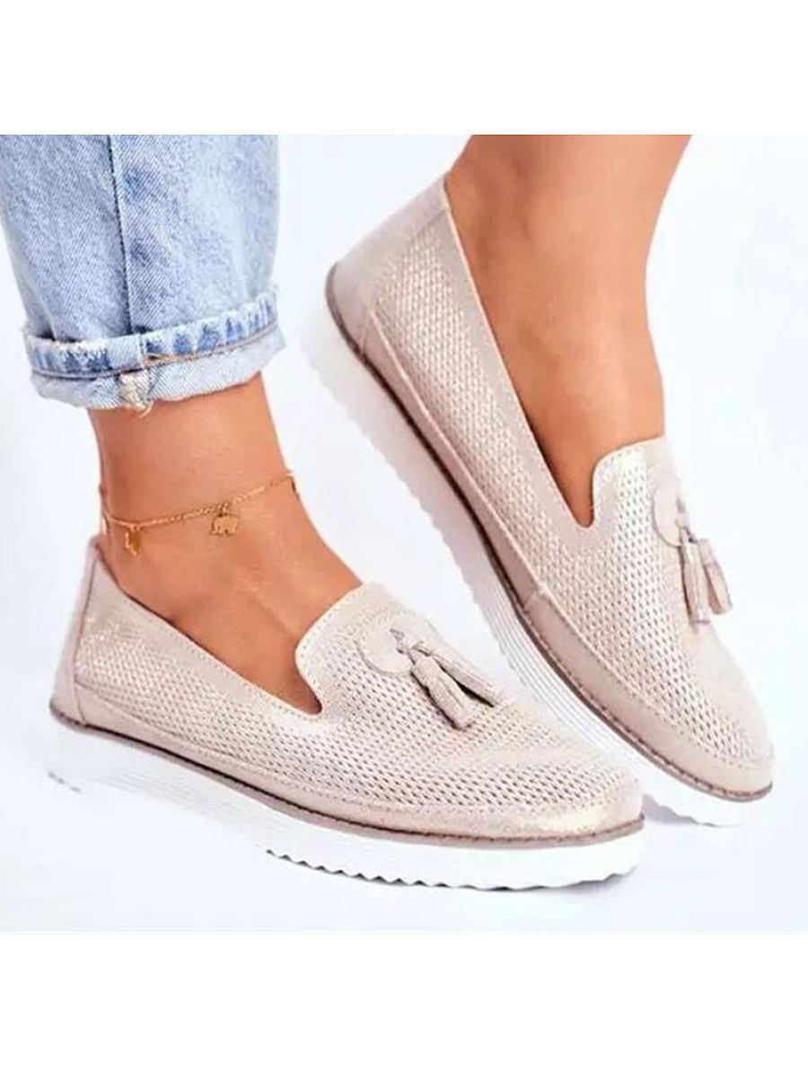 Fashion casual tassel flat shoes