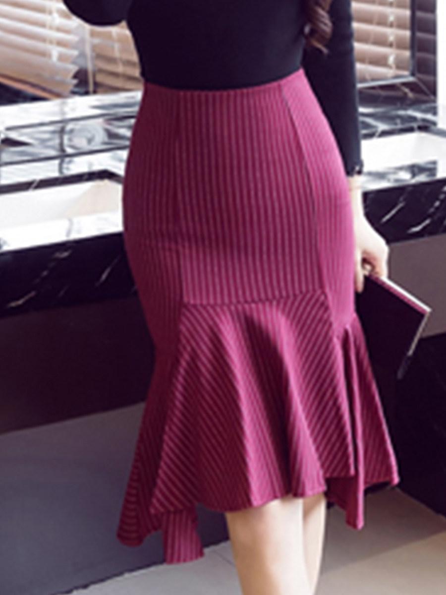 High-waisted a-line Fashion skirt