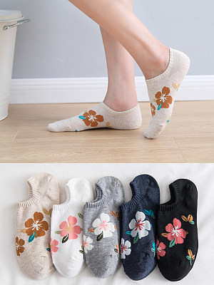 Low Cut Short Tube Cotton Boat Socks
