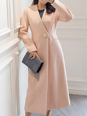 Women Long Knee coat gender:female, season:autumn,winter,spring, collar:v-neck, sleeve_length:long sleeve, style:japan and south korea, bust:92,clothing length:120,shoulder width:42,