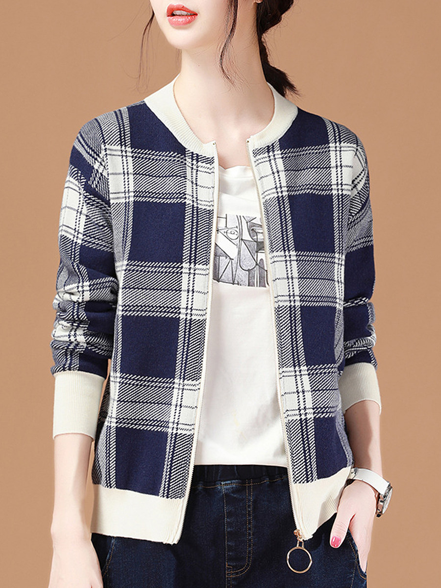 Fashion Loose Plaid Jacket